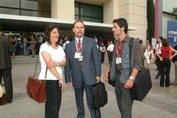Manuel Carrillo con periodistas Barcelona