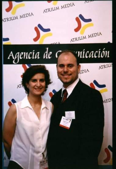 Clara Fernández y Manuel Carrillo, Socios Fundadores ATRIUM Media (2001) hoy Grupo Reputación Corporativa