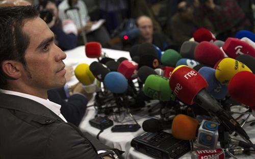Alberto Contador 7 de febrero del 2012 tras sentencia TAS 2 años sanción