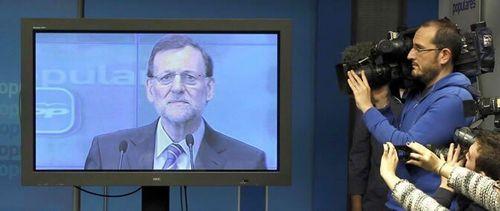 Rajoy y su televisión en rueda de prensa
