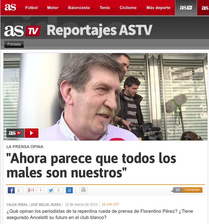 AS contra Florentino Pérez